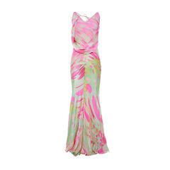Roberto cavalli vibrant print nature prints silk dress 2?1490860056