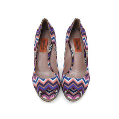 Pattern Peep Toe Pumps