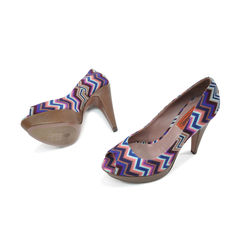 Missoni pattern peep toe pumps 2?1491286136