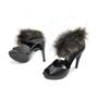 Hermes Fox Fur Trim Sandals - Thumbnail 1