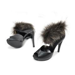 Hermes fur trim sandals 2?1491286310