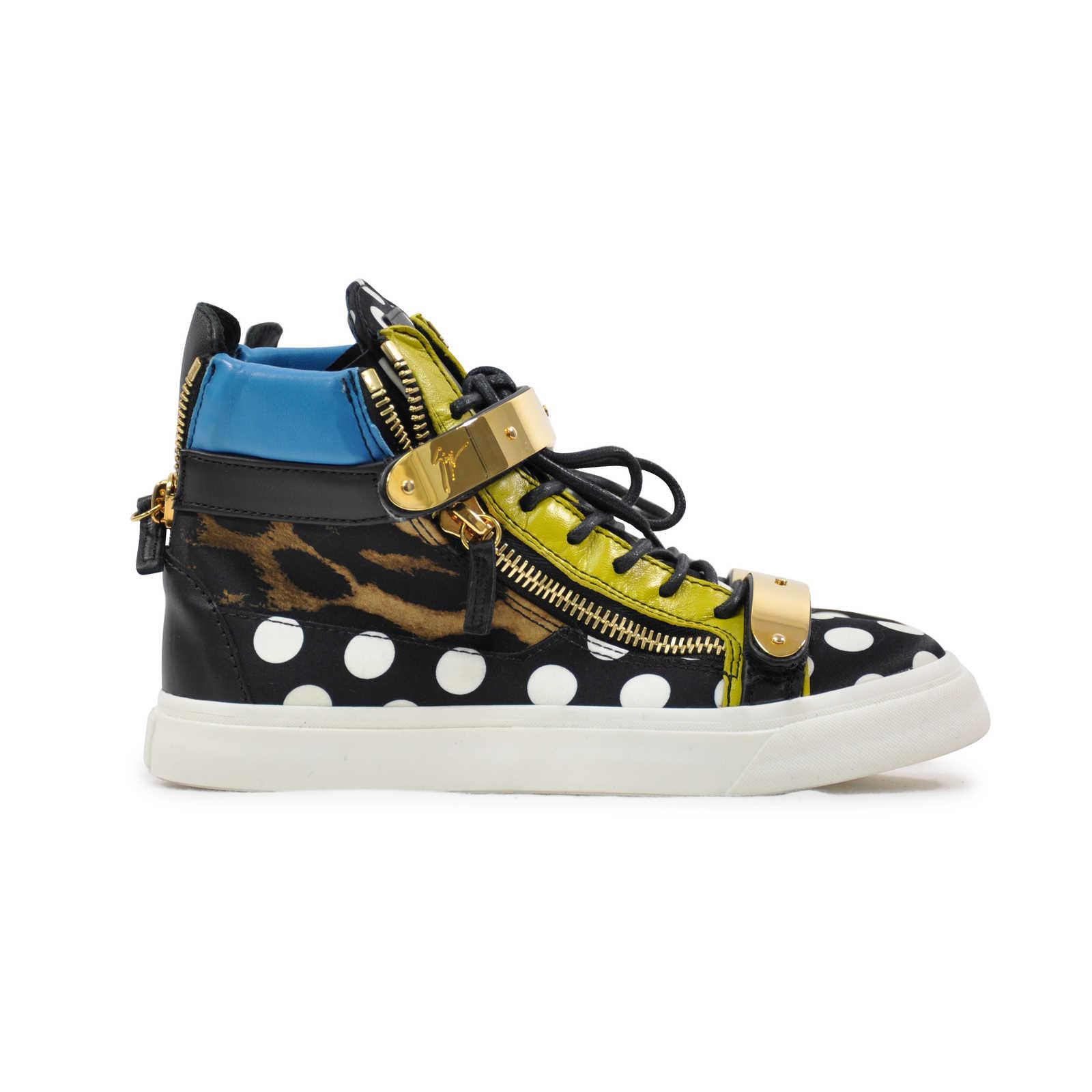 6ee087878f2ef ... Authentic Second Hand Giuseppe Zanotti London Polka Dot Satin Hi Top  Sneakers (PSS-200 ...