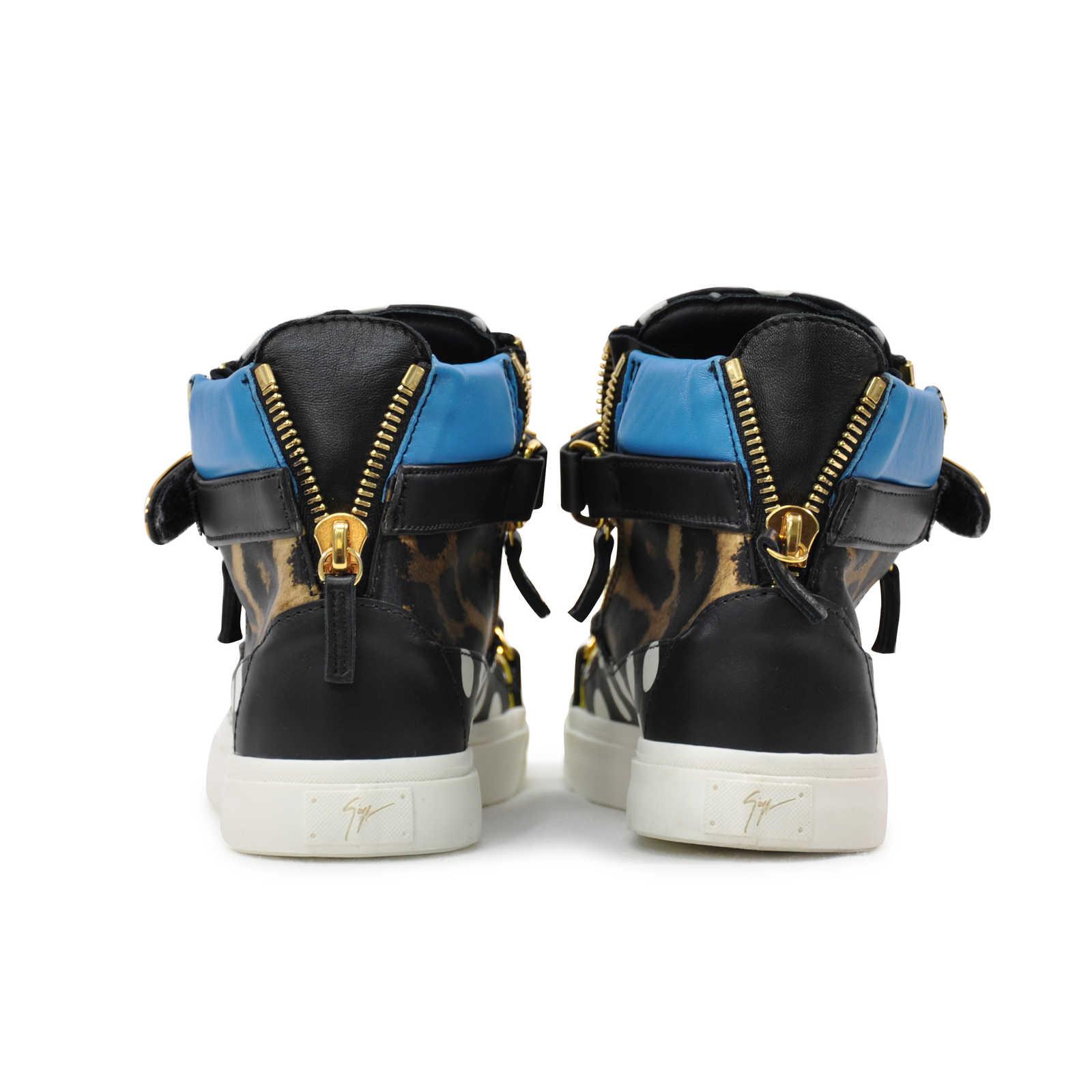 7e46b0ed3d30a ... Authentic Second Hand Giuseppe Zanotti London Polka Dot Satin Hi Top  Sneakers (PSS-200