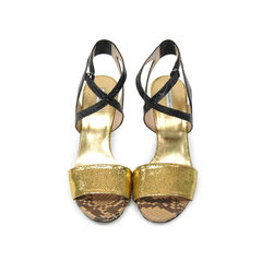Two Toned Snakeskin Sandals