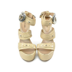 Python Wedge Sandals