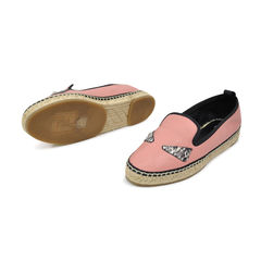 Fendi bois de rose natural leather espadrille with eye inlay 2?1491383650