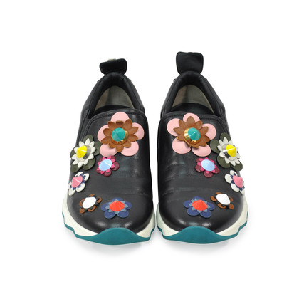 Authentic Second Hand Fendi Embellished Appliqué Slip On Sneakers (PSS-200-00745)