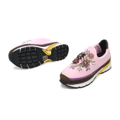 Dolce gabbana pink and multicolour barcelona slip on sneakers 2?1491383868