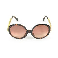 Louis vuitton brown round sunglasses 1