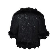 Dior cashmere crochet cropped jacket 1