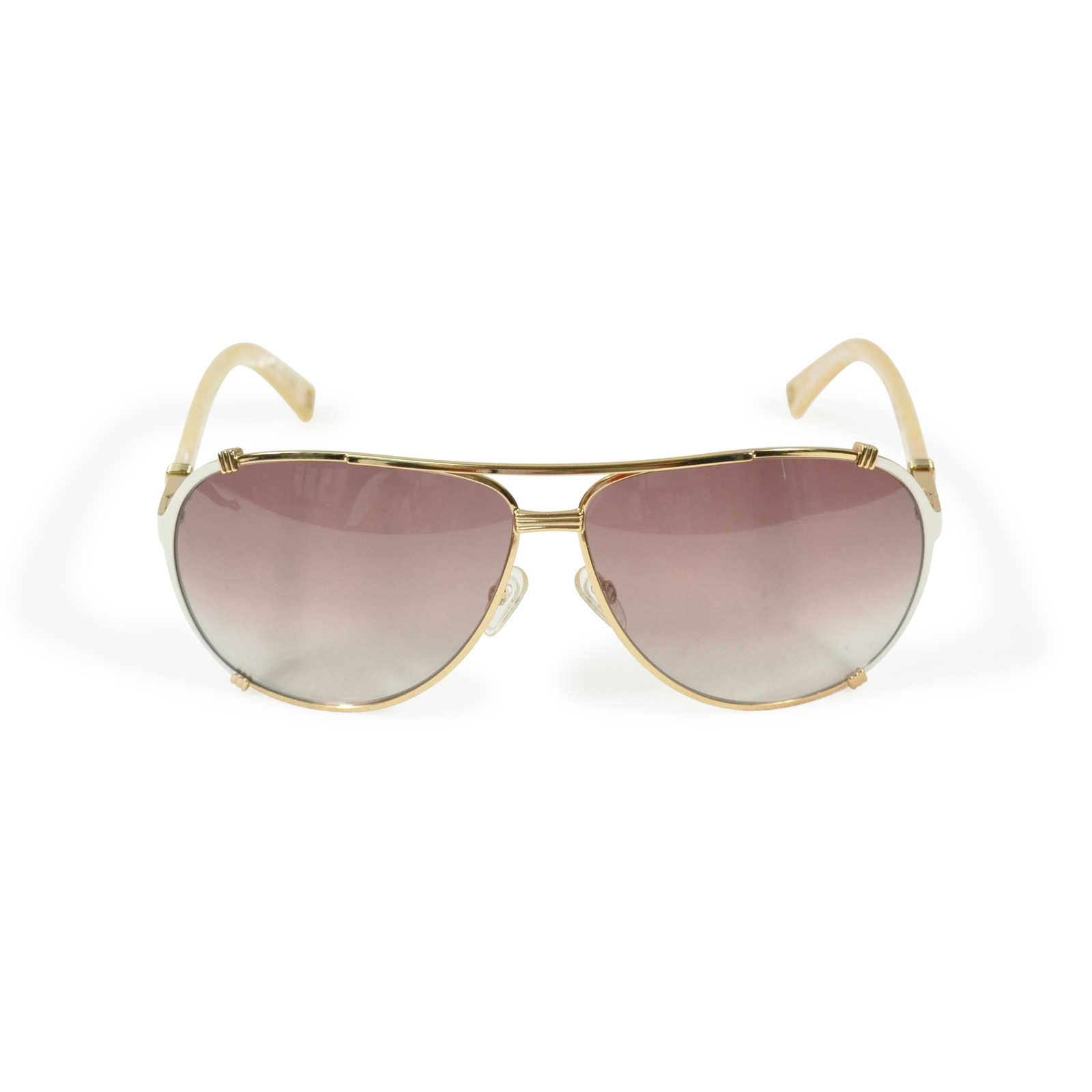 f45fc2dbd116 ... Authentic Second Hand Dior 'Chicago 2 Strass' Aviator Sunglasses  (PSS-200- ...