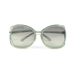 Farrow Luxe Square Stylized Frame Sunglasses
