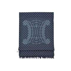 Celine monogram wool scarf 5