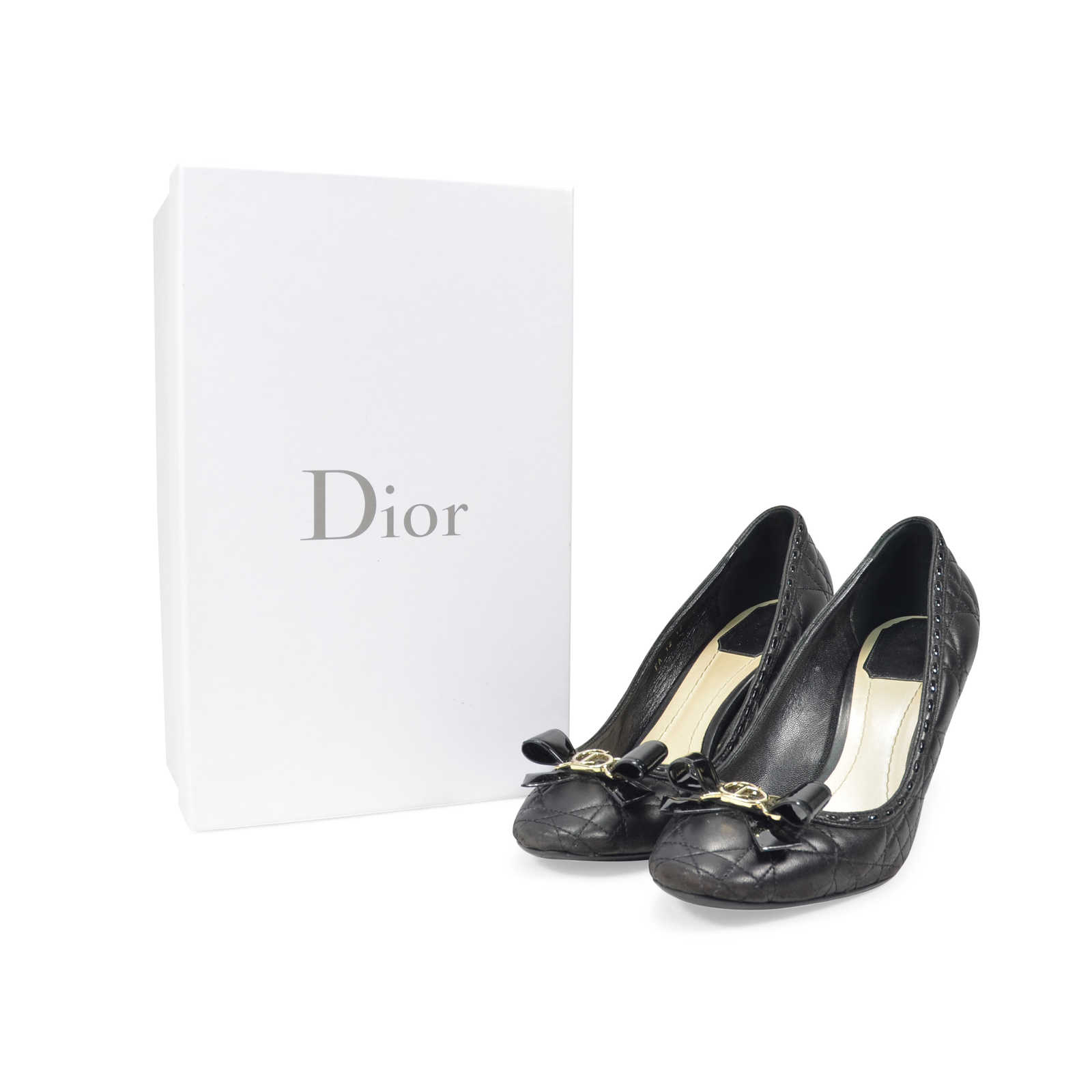 d20551e33f ... Authentic Second Hand Dior Lovely Cannage Pump (PSS-333-00009) -  Thumbnail