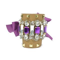 Bijoux and Studs Leather Bracelet