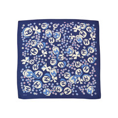 Chanel clover logo silk scarf 2?1492572544