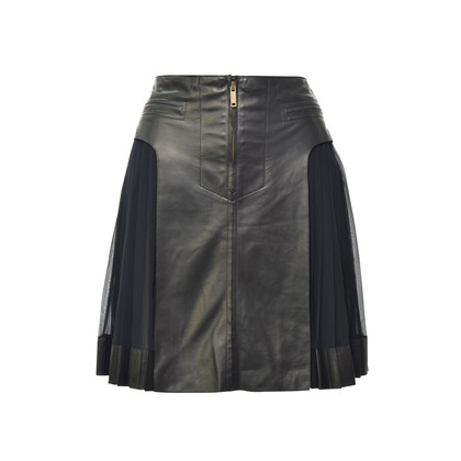 Authentic Second Hand Derek Lam Pleated Side Lambskin Skirt (PSS-200-00092)