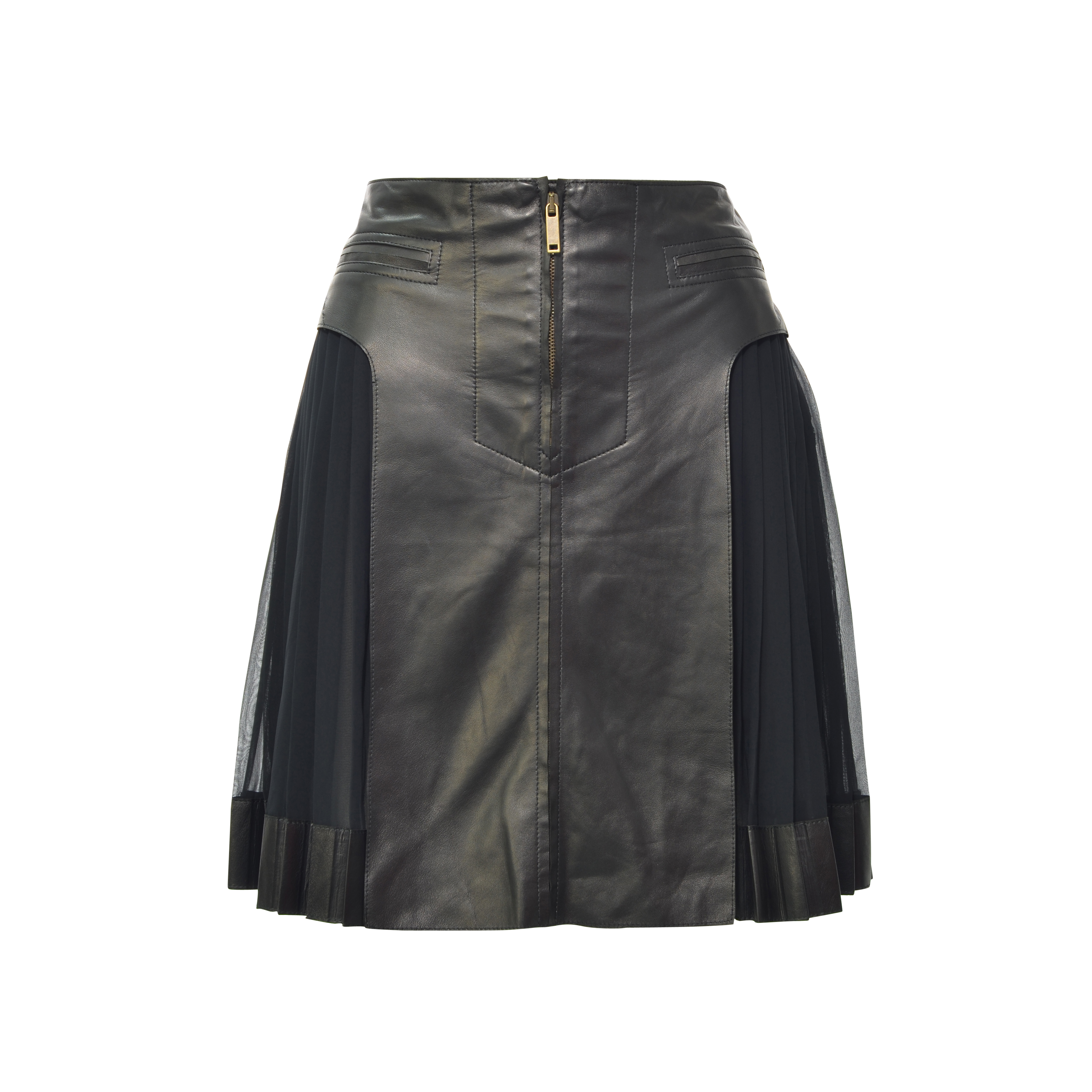 d8456e8fdd Authentic Second Hand Derek Lam Pleated Side Lambskin Skirt (PSS-200-00092)  - THE FIFTH COLLECTION