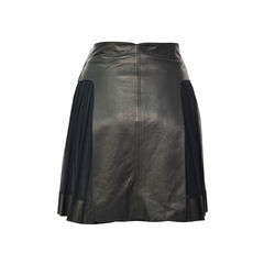 Derek lam pleated side lambskin skirt 2?1492575477