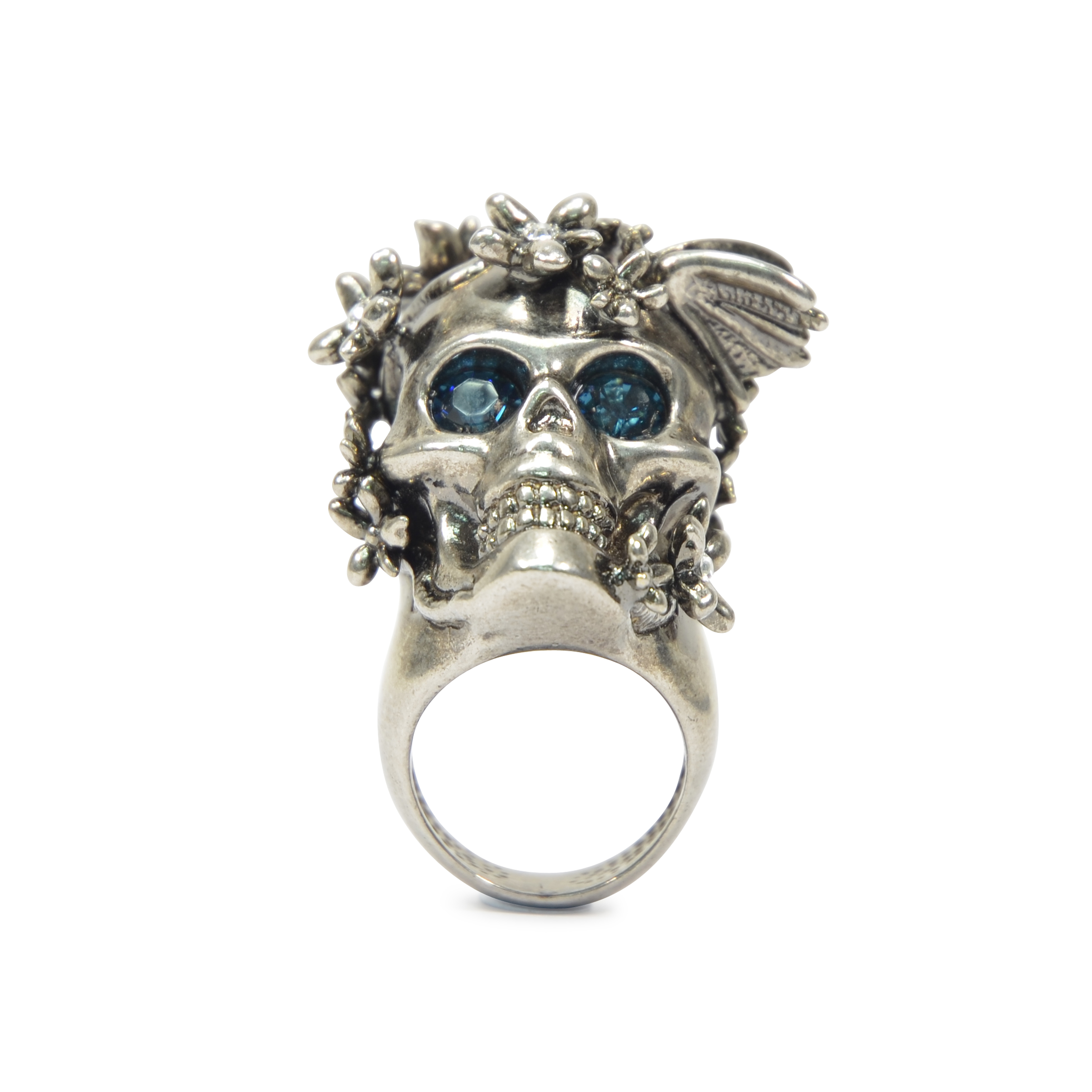 1e51eb966 Authentic Second Hand Alexander McQueen Skull Head Flower Ring  (PSS-193-00083) - THE FIFTH COLLECTION