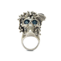 Skull Head Flower Ring