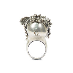 Alexander mcqueen skull head flower ring 2?1492579335