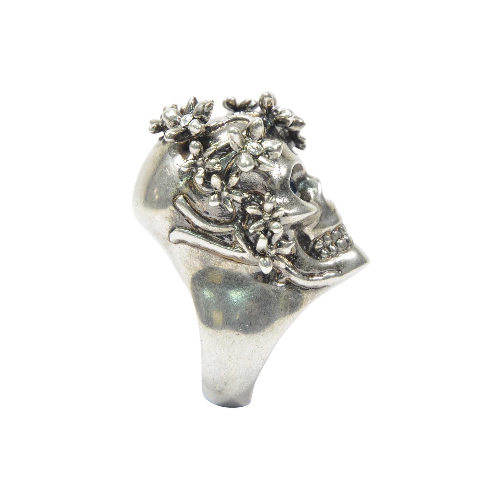 fb55eefa9 ... Authentic Second Hand Alexander McQueen Skull Head Flower Ring  (PSS-193-00083) ...