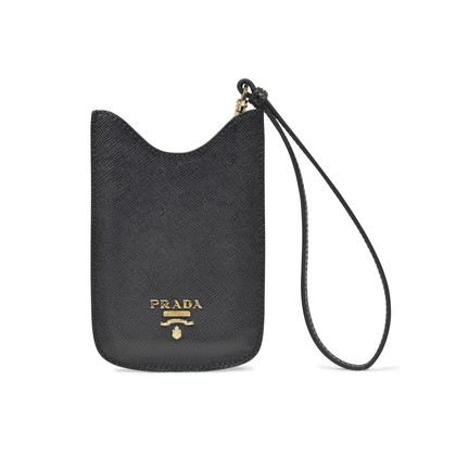 Authentic Pre Owned Prada Black Phone/Card Case Wristlet (PSS-193-00087)