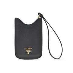 Black Phone/Card Case Wristlet