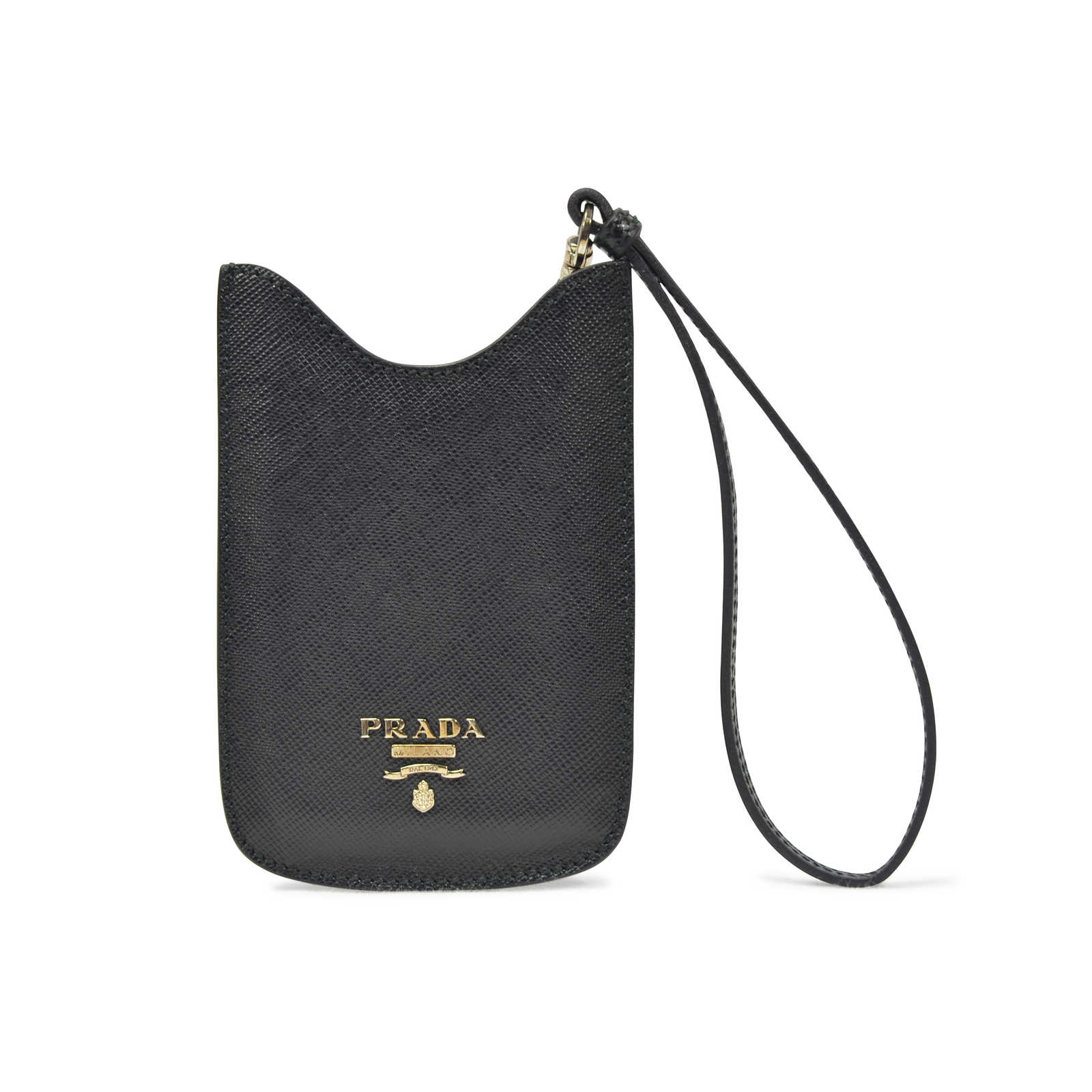 7a244c87bdb8 Authentic Second Hand Prada Black Phone/Card Case Wristlet (PSS-193-00087  ...