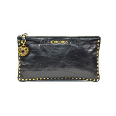Gold Emebellished Black Pouch