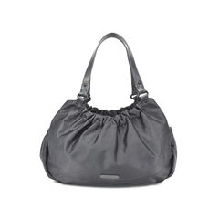 Ruched Nylon Shoulder Bag