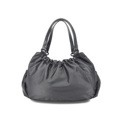 Agnes b ruched nylon shoulder bag 2?1492584221