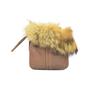 Authentic Second Hand Coach Fur Trim Pouch (PSS-320-00011) - Thumbnail 1