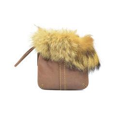 Coach fur trim pouch wristlet 2?1492584255