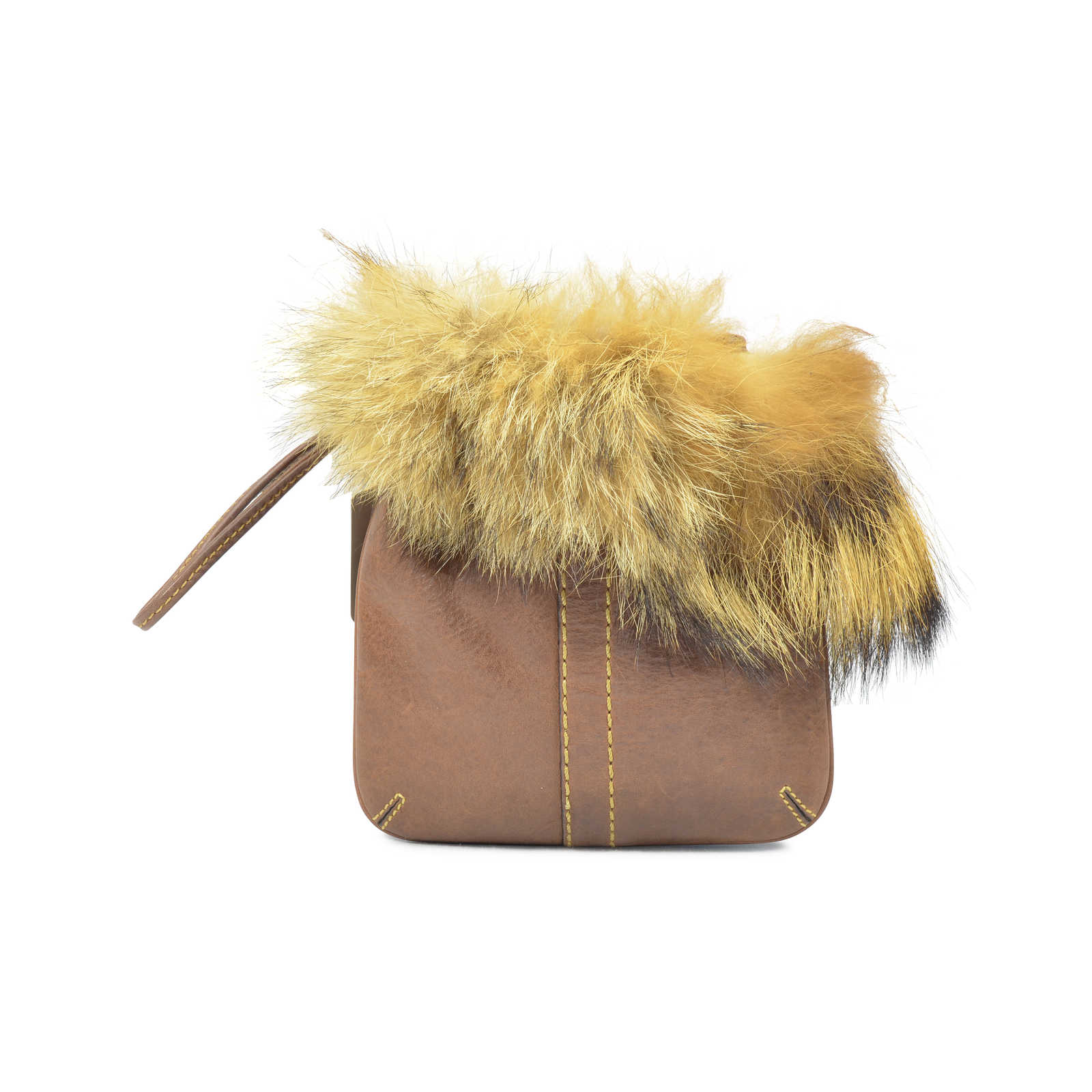 Authentic Pre Owned Coach Fur Trim Pouch Pss 320 00011 The Fifth 1dd9e0128910c