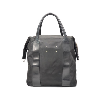 Authentic Second Hand Maison Martin Margiela Canvas and Leather Tote Bag (PSS-320-00008)