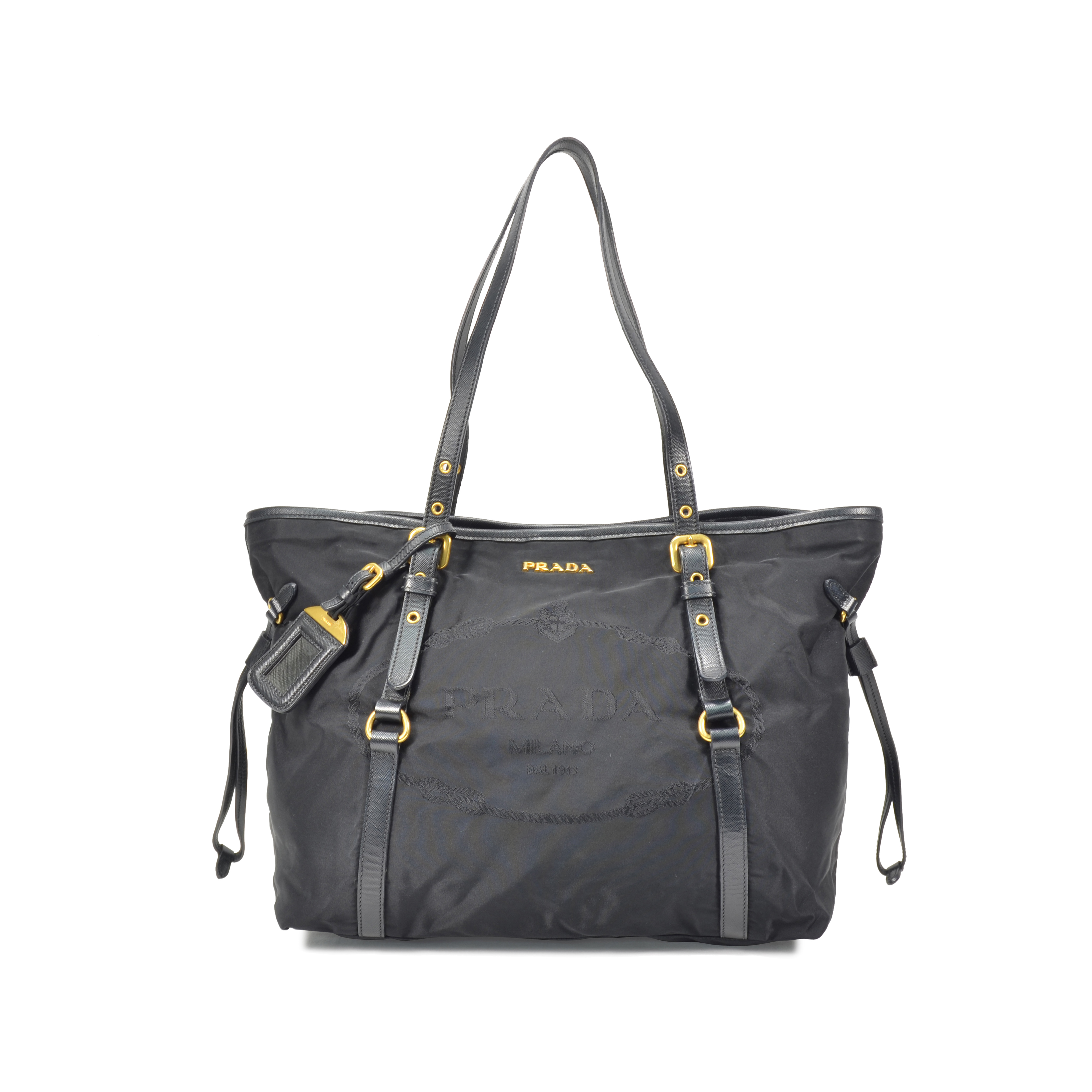 4ca77a3f4458 Authentic Second Hand Prada Nylon Tote Bag (PSS-320-00006) | THE FIFTH  COLLECTION