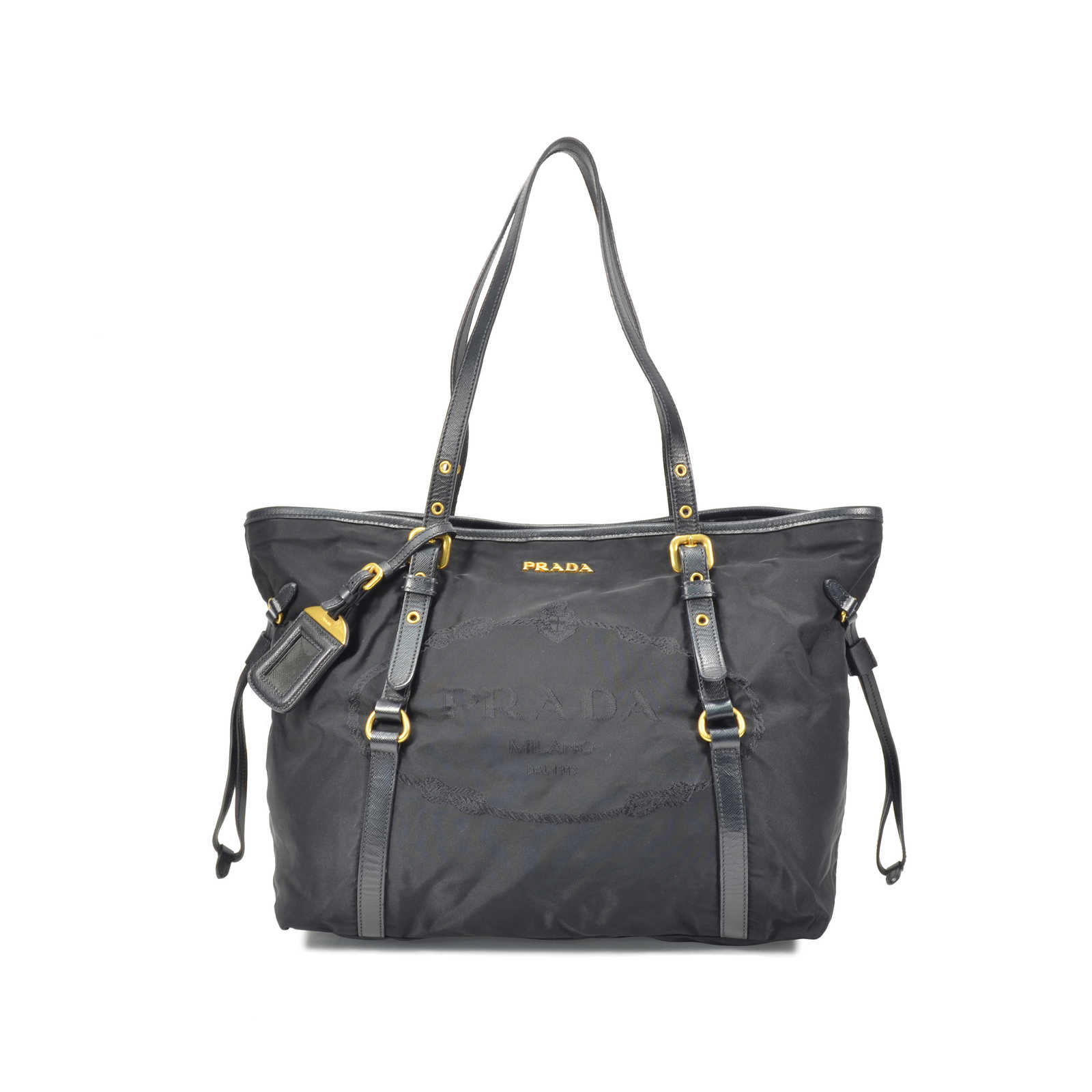03354ade318d ... france authentic pre owned prada nylon tote bag pss 320 00006 thumbnail  ea08d d5a53