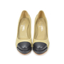 Authentic Second Hand Chanel Fabric Two Tone Pumps (PSS-327-00004) - Thumbnail 0