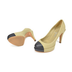 Chanel fabric two tone pumps 2?1493020773