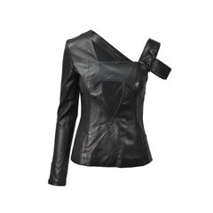 Asymmetrical Leather Top