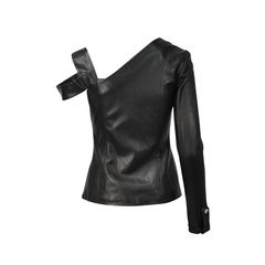 Anthony vaccarello asymmetric leather designed top 2?1493026208
