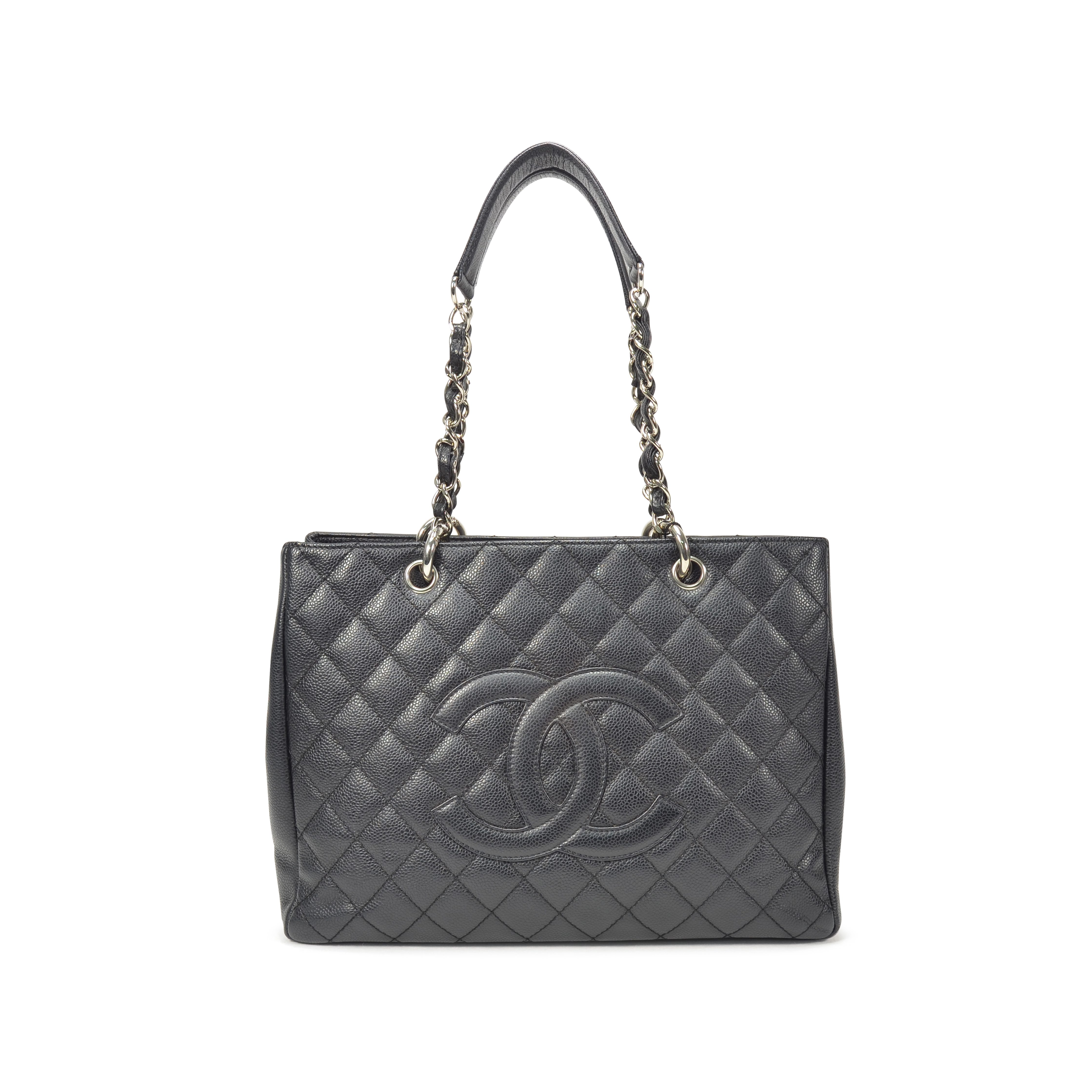 5cd4ded0a244 Authentic Second Hand Chanel Black Grand Shopping Tote Bag (PSS-236-00018)  | THE FIFTH COLLECTION
