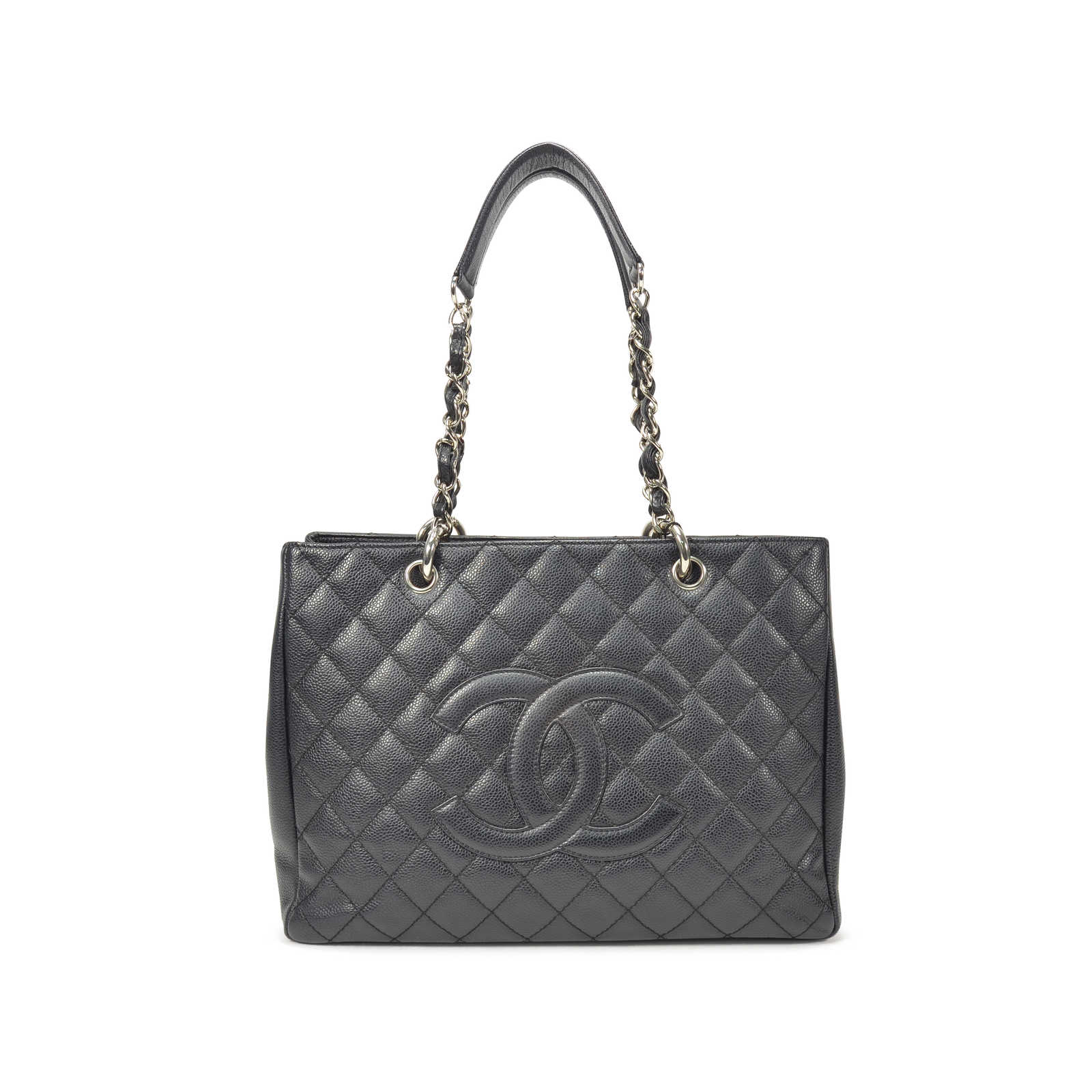 Authentic Second Hand Chanel Black Grand Shopping Tote Bag Pss 236 00018 The Fifth Collection
