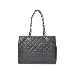 Chanel black grand shopping tote bag 2?1493112618