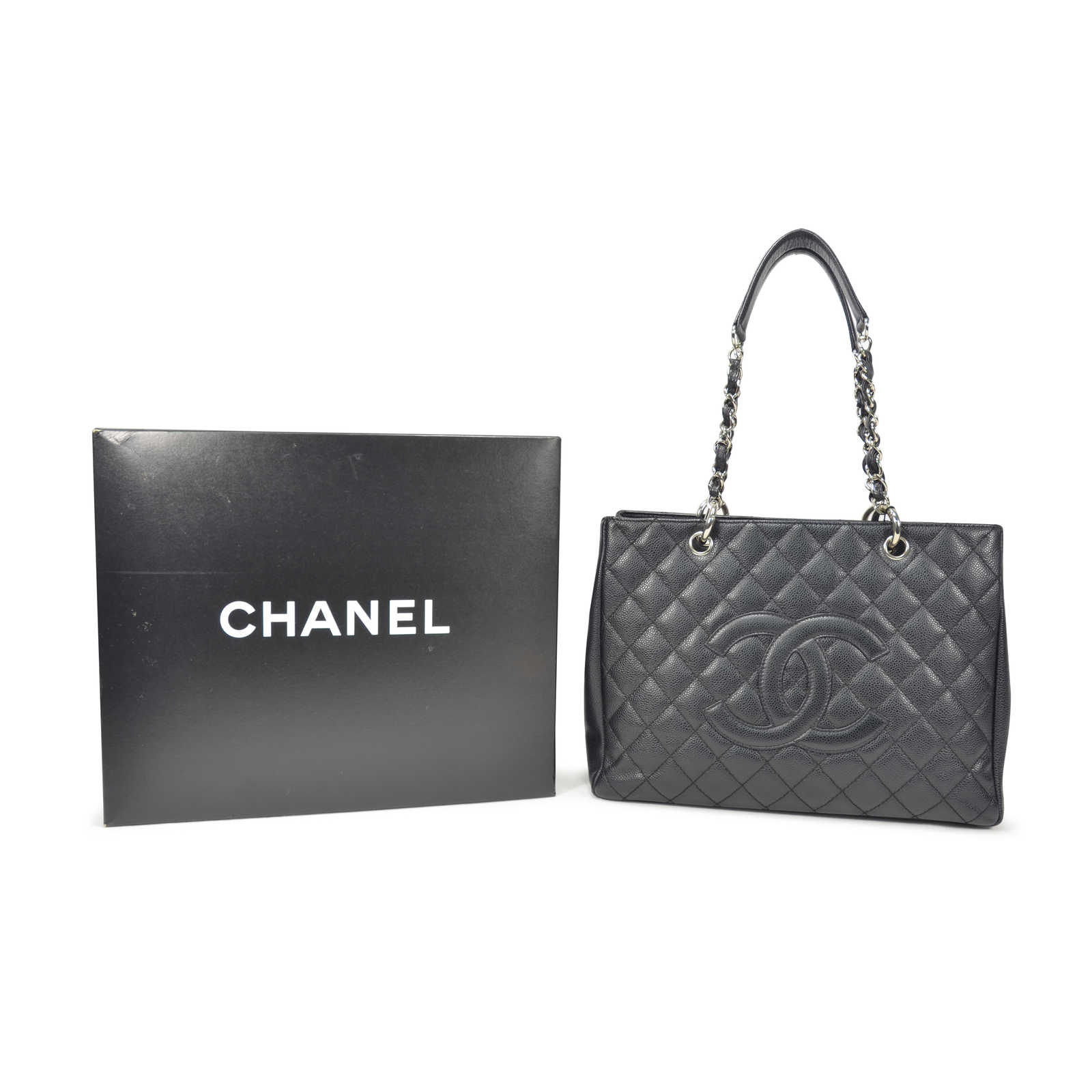 d40e682fbef3 ... Authentic Second Hand Chanel Black Grand Shopping Tote Bag  (PSS-236-00018) ...