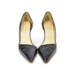 Black Pointed Patent Pumps