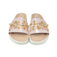 Pink Slip-on Sandals
