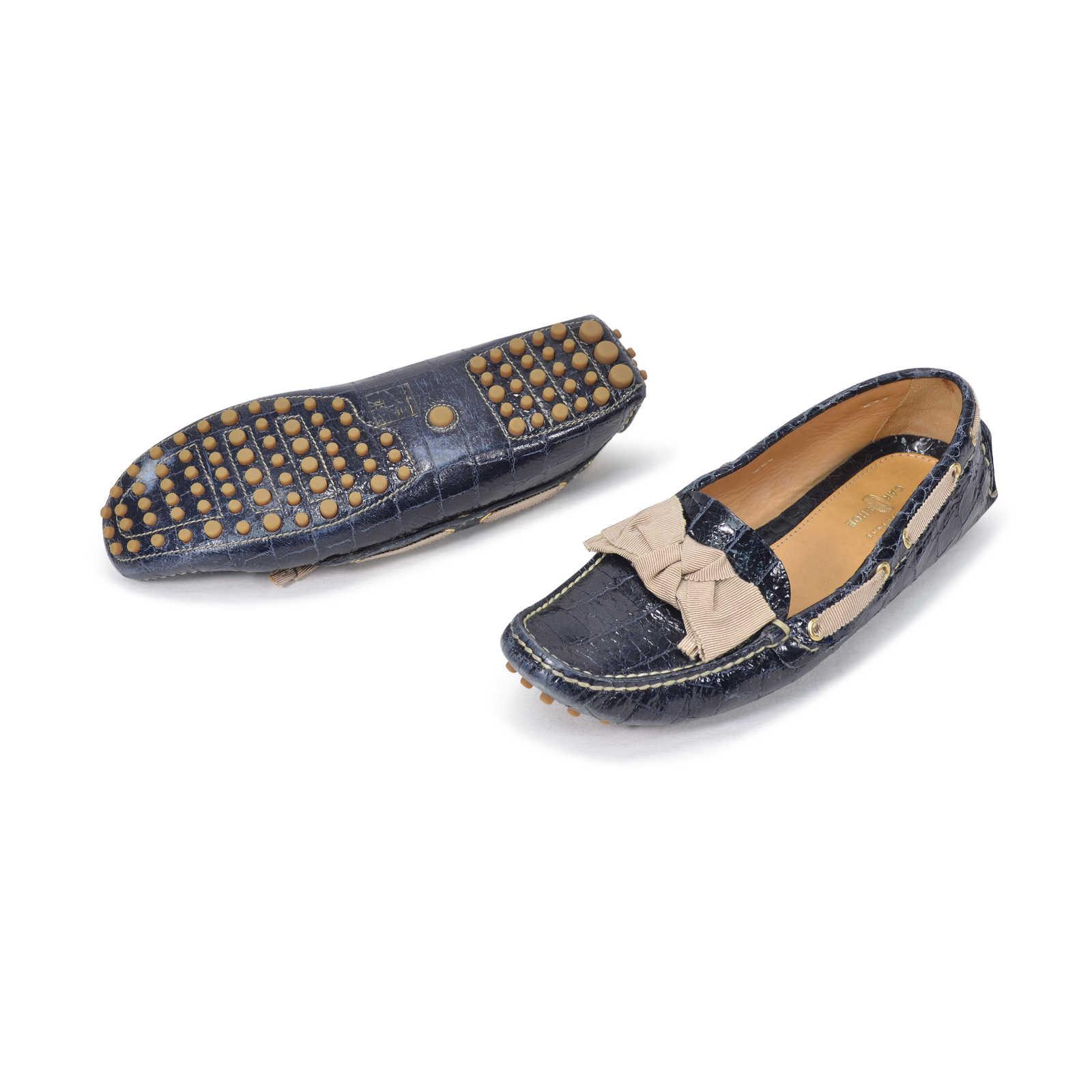 Sale 2018 Prada Car Shoe x Leather Round-Toe Flats Buy Cheap New 2018 Newest aubZmDIJr